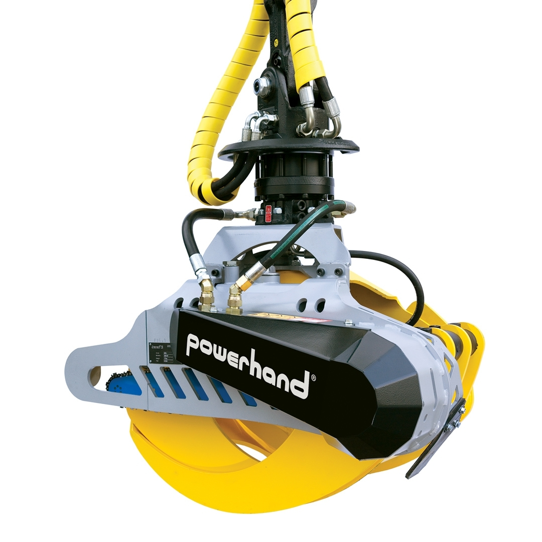 powerhand gc handling grapple saw cassette closed
